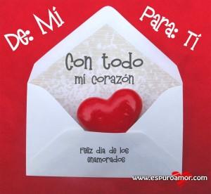 mejores imágenes de san valentin tarjeta con bonito corazón rojo dentro de el.