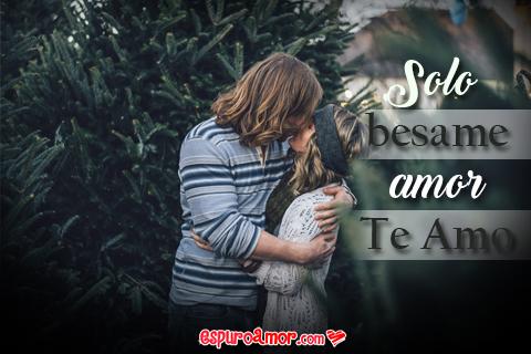 Tarjeta con Frase de Amor para Dedicar a El Amor de Tu Vida con Imagen de Pareja de Enamorados