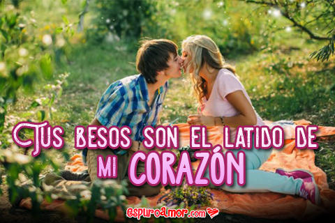 Frase de Amor en Bonita Postal HD con Imagen de Pareja para Facebook
