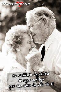 lindos ancianos con etiqueta de amor eterno