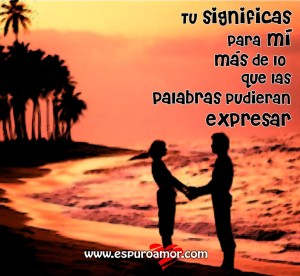 dinbujo de enamoraditos de las manos frente al mar con palabras para expresar