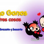Comparte en facebook este cartel con frase romántica de Pucca lanzando a Garu