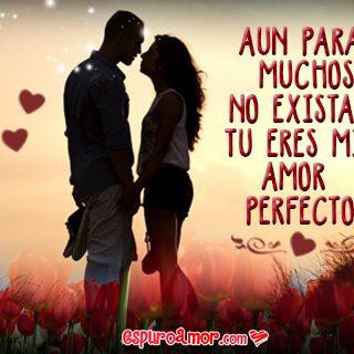 Imagen de Amor de Pareja de Enamorados con Frase Romántica para Dedicar a Tu Amor Perfecto
