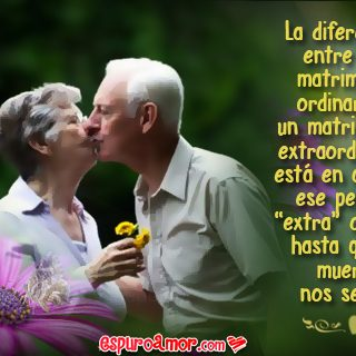 Imagen de Amor de Pareja de Abuelos para Facebook con Frase de Reflexión