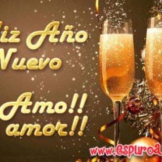 Imágenes con Frases de Feliz Año Nuevo mi amor