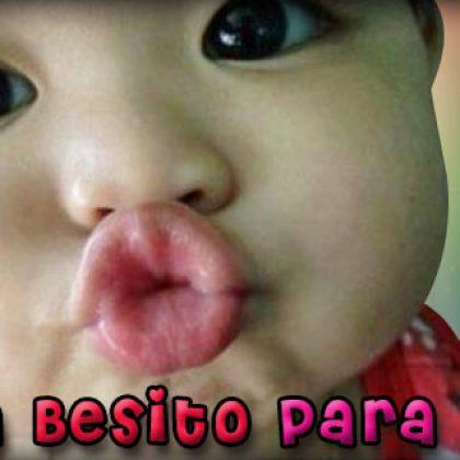 Imágenes de tiernos bebes enviando besos