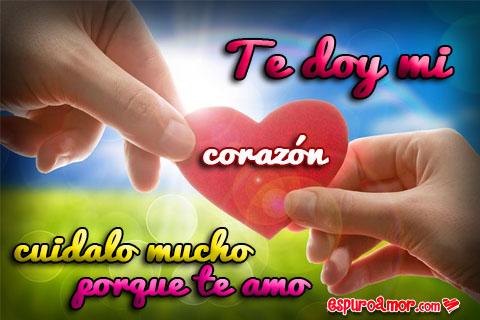 Imágenes de Amor de Corazones con la Frase Te Amo