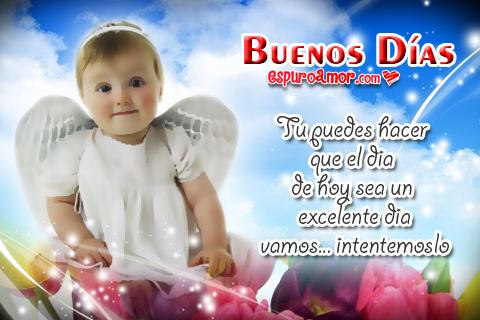 Imágenes de Lindos Angelitos con Buenos Días para Dedicar