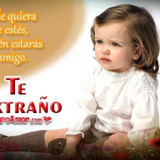 Imágenes de Bebes con Frases de Te Extraño para Compartir