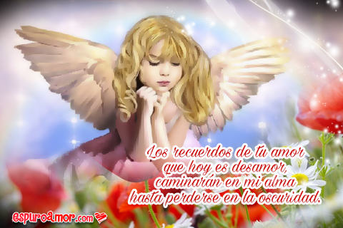Mujeres angelicales con tristes frases desamor