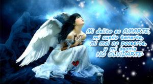 Angelitas tristes con frases de desamor