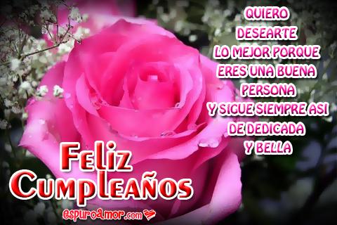 Dedicatorias de Feliz Cumpleaños con Hermosas Rosas Rojas