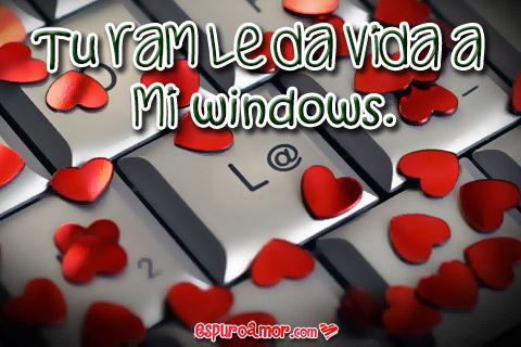 Teclado de amor con corazones