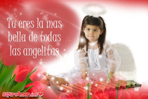 Dedicatorias de Amor con Angelitas para tu Novia