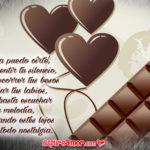 Chocolates con poemas de amor