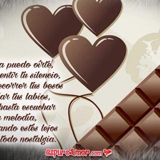 Corto poema de amor para facebook con imagen de amor con chocolate