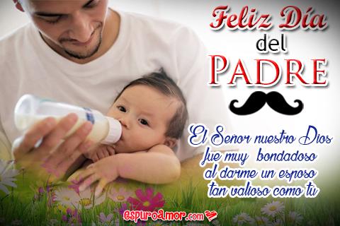 Imagen de Amor para Esposo en el Día del Padre en Tarjeta Animada