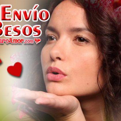Imágenes de Parejas con Te Envío Besos para Enamorado
