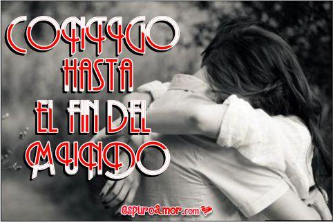 Apasionado abrazo hasta el fin del mundo