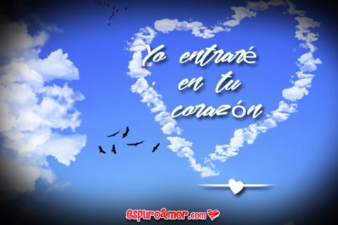 lindo corazón en el cielo